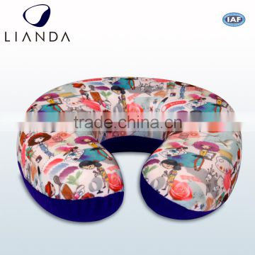 Comfortable Latest design u shape neck pillow with simple logo