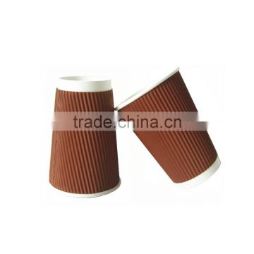 Anqing christmas printed disposable paper coffee cups with PS cover