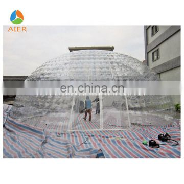 2017 Guangzhou giant outdoor transparent clear sealing dome tent for sale