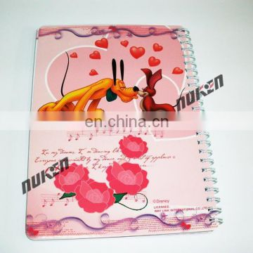 Personalized Low Price New Arrival 3D Lenticular school notebook Design From China Supplier