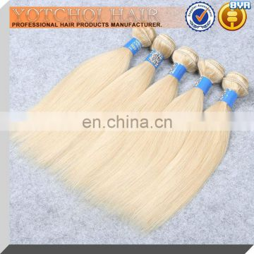 Wholesale Cheap Natural Blonde Human Hair Extensions Malaysian Straight Hair Weft