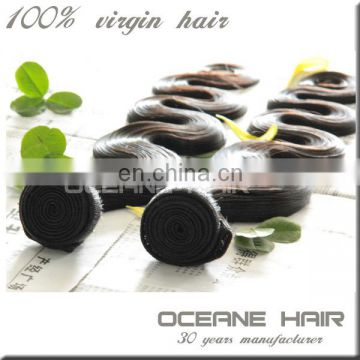 No chemical processed can dyed double weft spanish wave wholesale remy brazilian hair weaving