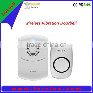 Patent and fashion design wireless ring&vibrate doorbell with 300m working range