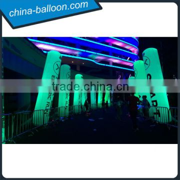 4m led light columns,inflatable tube with brand,led inflatable tube for event decoration