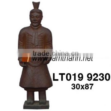 Ancient Pottery High Fired Warrior Statue
