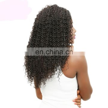Kinky curly human hair lace front wig brazilian human hair