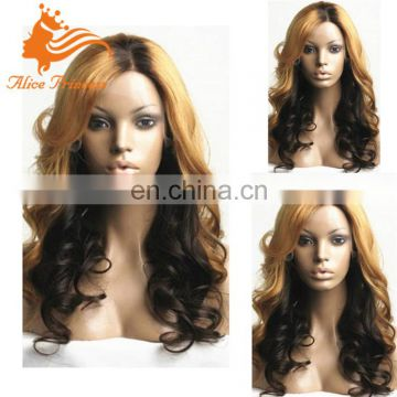 Blonde Ombre Lace Front Wig Brazilian Full Lace Human Hair Wig With Baby Hair Bleachced Knots