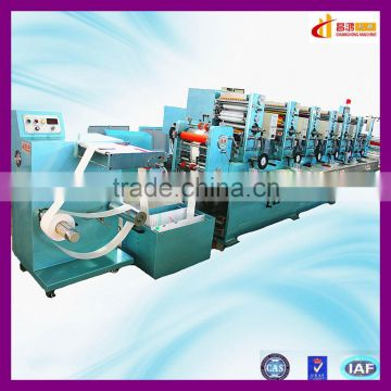 CH-300 rotary rubber roller 5 colours label printing machine