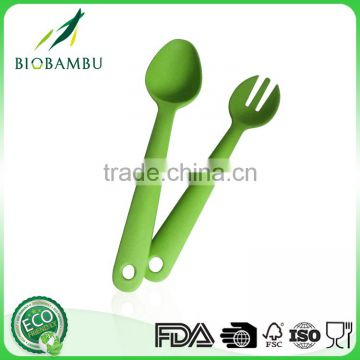 Latest product unbreakable green bamboo fiber fork