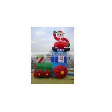 inflatable santa replica, christmas inflatables with Santa gift