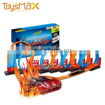 Assembly Pull Back Cars Magic Glow Race Track For Kids