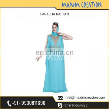 Well Fabricated Farasha Kaftan for Women by Prominent Dealer of the Market