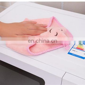 Wholesale custom coral velvet kitchen wash towel