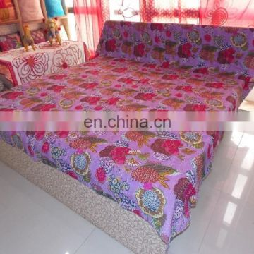 Indian Traditional kantha quilt/cotton handmade kantha throw