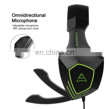Wholesale Drop Shipping Headset,Tablet Blue tooth Headphone, Laptop Wired Game Headset 3.5mm Stereo,Wire Control AudioLine