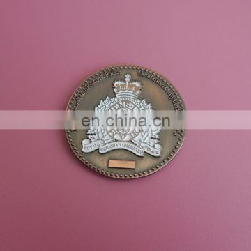 Diamond cut edge antique copper embossed coins