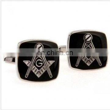 Customized Masonic logo metal soft enamel Cufflink for souvenir