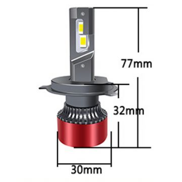 T30 Mini Canbus High Power H4 H/L Carson Car LED Headlights