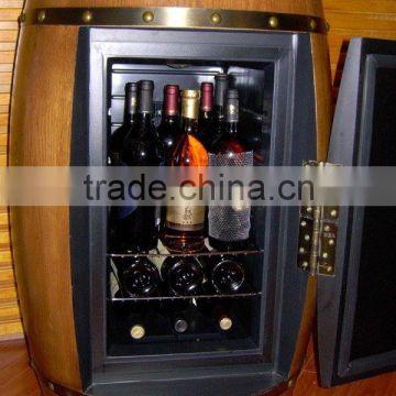Oak Wood Wine Barrel Cabinet Fridge