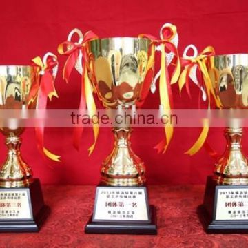 Custom new design sports prize alloy cup trophy award