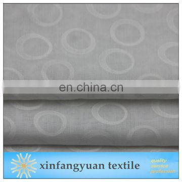 Ring Design T/C burn out fabric for curtain
