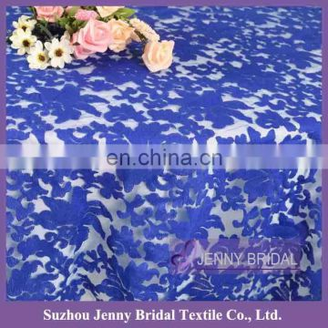 TL040B cheap chemical lace weddind table cloth or blue overlay