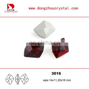 China Red Popular Color Crystal Fancy Stone for Jewelry and Bags