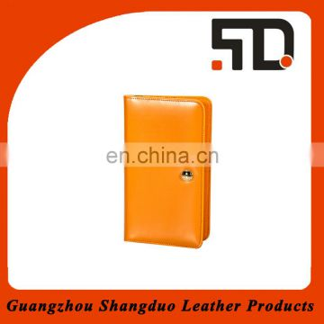 Guangzhou Manufacture High Quality Human Leather Travel Passport Wallet