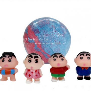 OEM kids bath bombs with surprise cartoon toy inside for kids bath playing