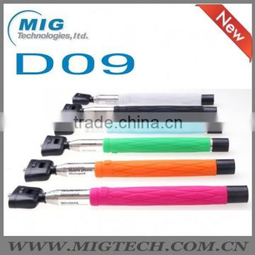 New arrival D09 with mirror monopod selfie stick, monopod with bluetooth shutter button for camera and mobile phone