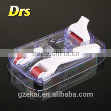 DRS 4 in 1 Micro Needle Roller Skin Care Therapy System Titanium Alloy Needles Use of Vitamin C Serum, Hyaluronic Acid