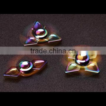 2017 New popular Finger Toy color changing wind spinner Hand fidget spinner