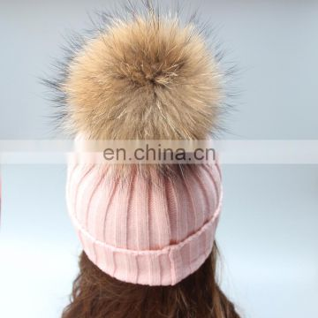 Classical pattern knitted hats winter women crochet beanies with ball on top
