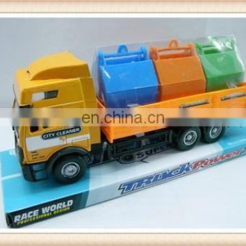 plastic utility track vehicle city cleaning truck toy