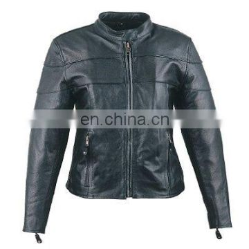 HMB-0273A WOMEN LEATHER JACKETS MOTORBIKE BIKER FASHION COATS