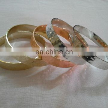 Gold Bangle Stack/ Best Seller hammered Brass Bangle in Copper n Silver Finish