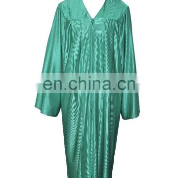High School Graduation Robe Shinny Finish