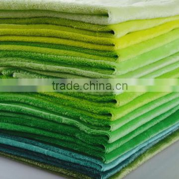 fabric for kid toy /Super soft high quality stock fabric 100 polyester fleece fabric plain green fleece velvet                                                                         Quality Choice