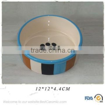 Diy wholesale personalized custom ceramic pet dog water food bowl                                                                         Quality Choice