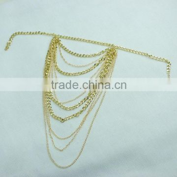 Hot gold multilayer tassels arm chain