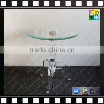 020a8d4a51a7 Clear acrylic small round coffee table glass and marble base cafe table  from shenzhen yidong of Acrylic furnitures from China Suppliers - 142333954
