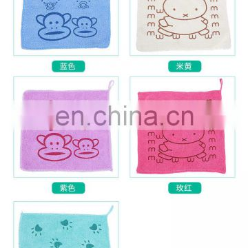 Super absoption soft cute rabbit microfiber baby hanging hand towel