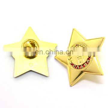 Wholesale Custom High Quality Metal 3D Design Gold Unique Safety Pin