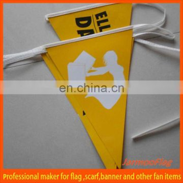 triangle pennant paper bunting flag banner