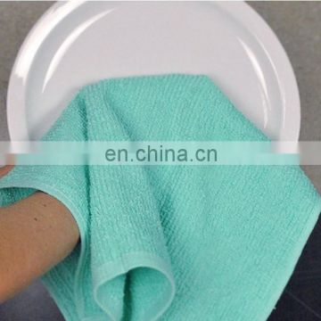 100% cotton dishcloth and bar towel washing cloth kitchen towel custom towel set 4 pack factory supply