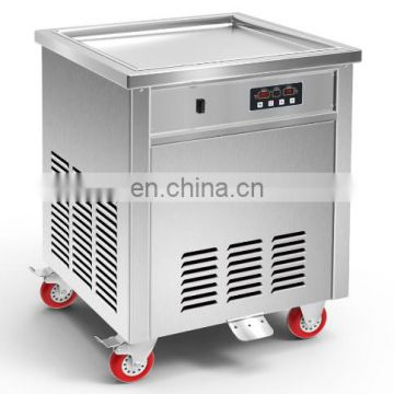 flat pan roll fry ice cream machine commercial use thailand fried ice cream roll machine