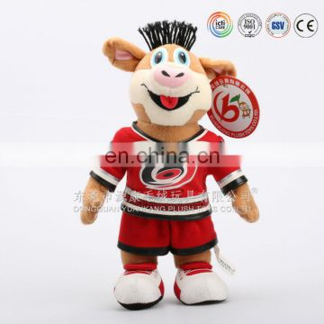 OEM Customized Cartoon Character keychain&High quality plush doll making factory