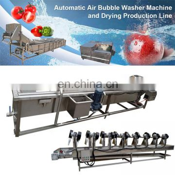 cranberry apricot pomegranate carrot washer fruit washing equipment bubble washing machine