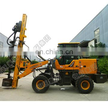 Construction hydraulic auger drilling rig / pile driving machine / screw pile driver