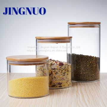 High Borosilicate Glass Storage Jars With Airtight Lid